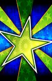 Green Star Burst Background Stock Photo