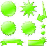 Green star burst designs Stock Image
