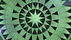 Green star ceiling pattern Royalty Free Stock Image