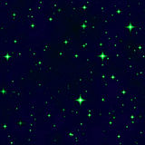 The green star fantasy night sky Royalty Free Stock Image