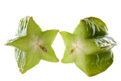 Green star fruit   Royalty Free Stock Images