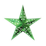 Green Star. Isolated. Green star on a white background. It is isolated, the worker of paths is present Stock Images