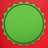 Green star leather stripe Royalty Free Stock Photos