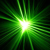 Green star light. Green light effects. Abstract shine Wires.Fireworks Stock Images