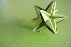 Green star origami Stock Image