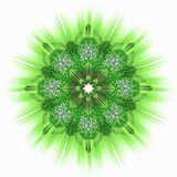Green star ornamental tile Royalty Free Stock Photography