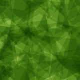 Green star polygon background Stock Photo