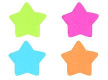 Green Star Shape Sticky Note. Stock Photography