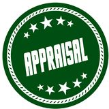 Green 5 star stamp with APPRAISAL . Illustration concept image Stock Image