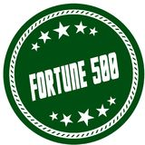 Green 5 star stamp with FORTUNE 500 . Illustration concept image Royalty Free Stock Image