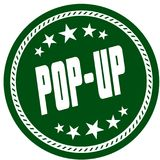 Green 5 star stamp with POP UP . Illustration concept image Stock Photo
