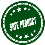 Green 5 star stamp with SAFE PRODUCT . Illustration concept image Royalty Free Stock Photo