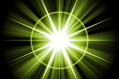 Green Star Sunburst Abstract Stock Image
