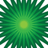 Green Starburst. A green star burst illustration that radiates from the center Royalty Free Stock Images