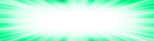 Green starburst explosion banner royalty free illustration