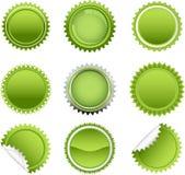 Green starbursts set Royalty Free Stock Image