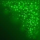 Green starry background. With blurry lights, illustration Royalty Free Stock Photos