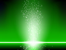 Green Stars Background. Stock Image