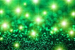 Green Stars Glitter Sparkle Background Royalty Free Stock Photography