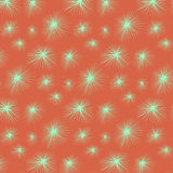 Green stars snowflakes background texture. Spiked symmetry Royalty Free Stock Photography
