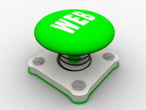 Green start button Royalty Free Stock Photo