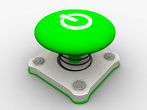 Green start button Stock Images