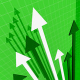 Green Stat background. Image 3d financial stat background Stock Image
