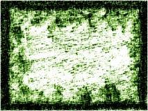 Green Static. Chalk on canvas vector illustration