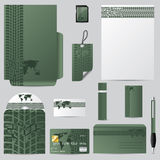 Green stationary vector set Royalty Free Stock Photos