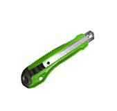 Green stationery knife Royalty Free Stock Photo