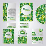 Green stationery template design Stock Photography