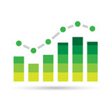 Green Stats Bars Stock Photos