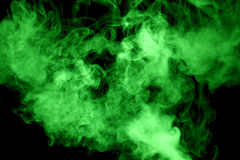 Green steam on the black background Royalty Free Stock Image
