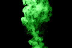 Green steam on the black background Royalty Free Stock Images