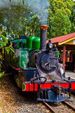 Green steam engine Stock Photography