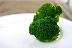 Green Steamed Broccoli Stock Photos