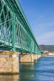 Green steel bridge in Viana do Castelo Stock Photos