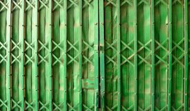 Green Steel door, background and copy space,Asia royalty free stock image