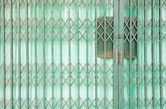 Green Steel door Royalty Free Stock Images