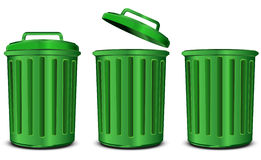 Green steel garbage Royalty Free Stock Photography
