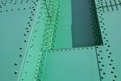 Green Steel and rivets Royalty Free Stock Photos
