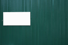 Green steel sheet and white plate Stock Photos