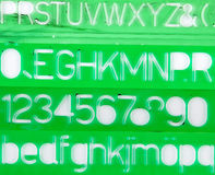Green stencils Stock Photography