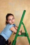 Green step-ladder Royalty Free Stock Photos