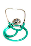 Green stethoscope Stock Images