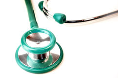 Green stethoscope Stock Photography