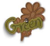 Green sticker Royalty Free Stock Images