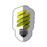 Green sticker eco bulb icon. Illustraction design Stock Image