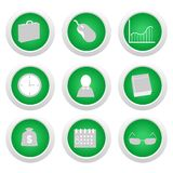 Green sticker with icon Royalty Free Stock Photo
