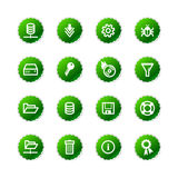 Green sticker server icons Stock Images